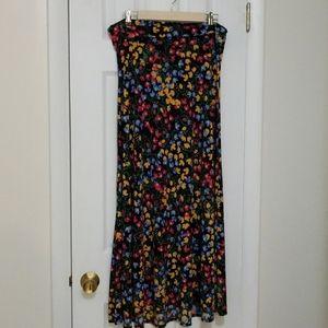 Lularoe floral maxi skirt
